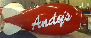 advertising blimp-14ft. simple lettering