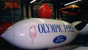 Advertising blimps 20ft.- Olympic Ford logo