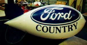 Advertising Blimp - 11ft. Ford Country logo