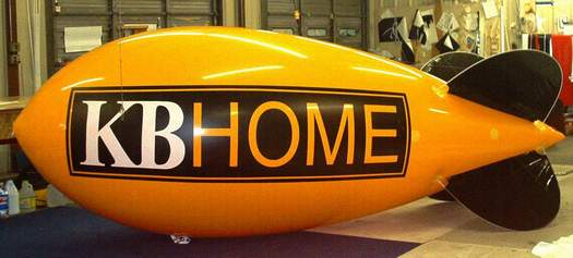 Advertising Blimp - KB Home logo - 14ft. Large balloons build your brand.