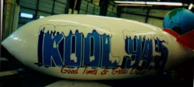 Advertising Blimp - 20ft. KOOL RADIO logo