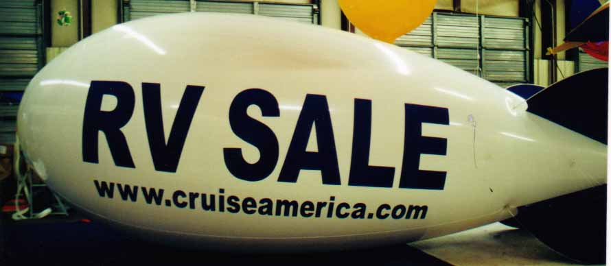 Balloon Advertising Works - Advertising Blimp - RV SALE logo
